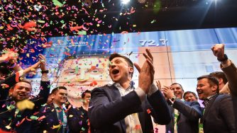 Ukrainian comedian and presidential candidate Volodymyr Zelensky (LaPresse)