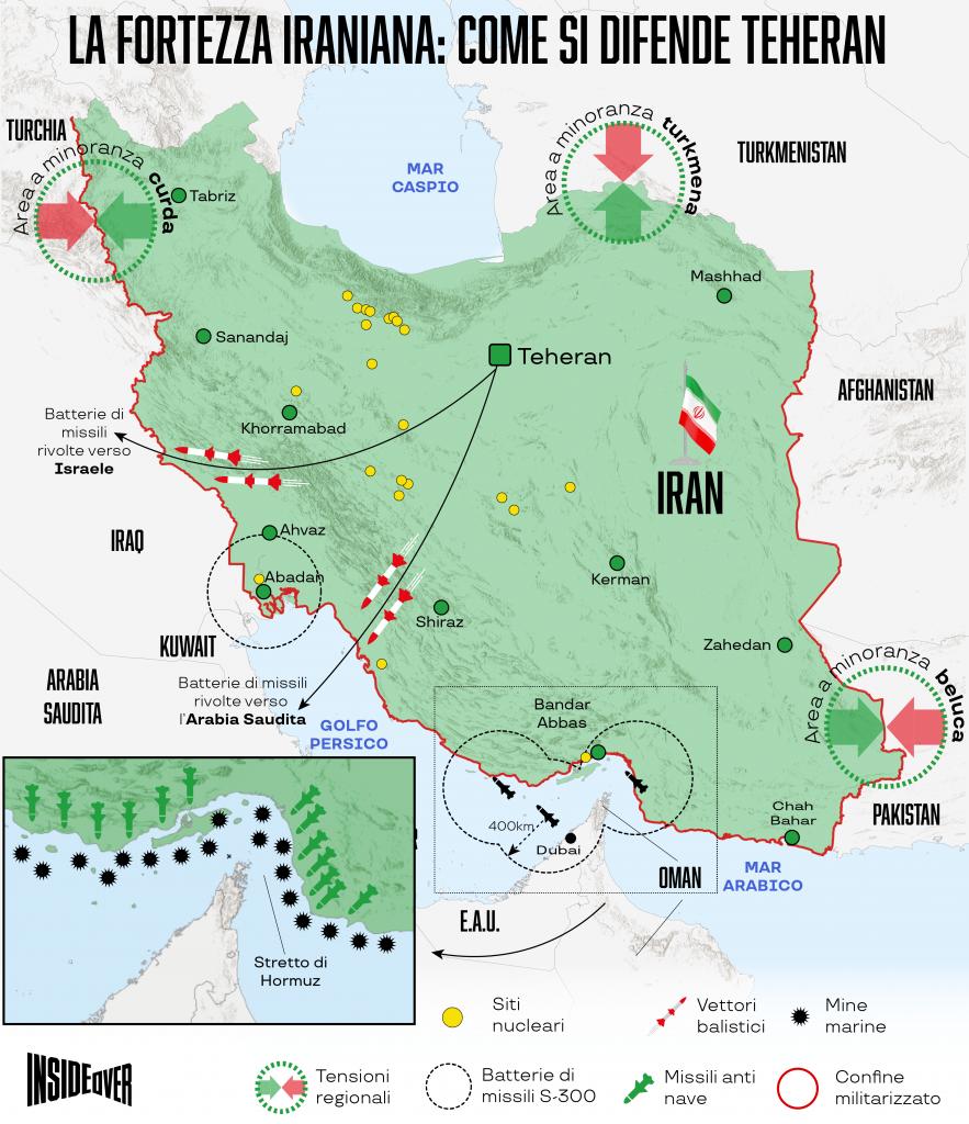 iran mappa politica