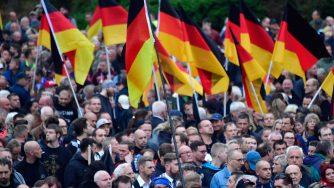 La manifestazione del partito di ultra destra Alternative fuer Deutschland (Afd) il primo settembre del 2018 (LaPresse)