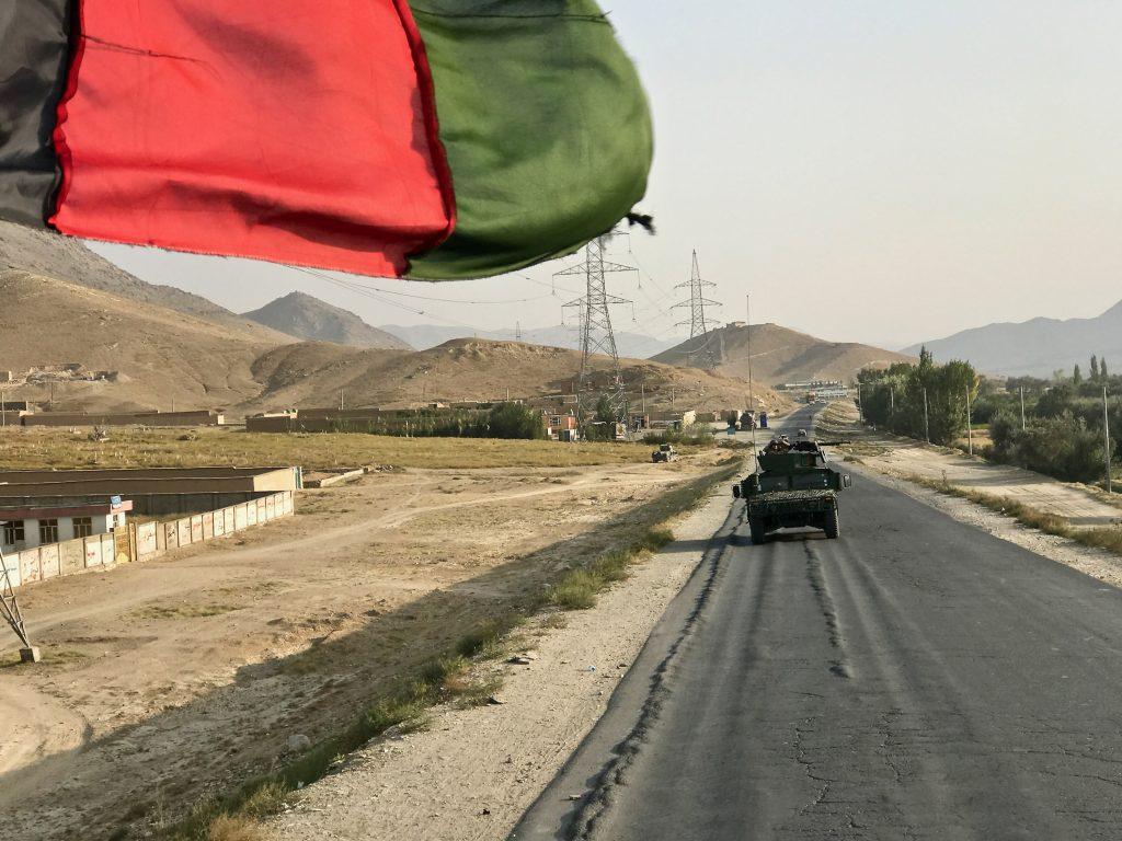 Un blindato dell'esercito afghano