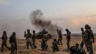 Miliziani filo turchi in Siria (LaPresse)