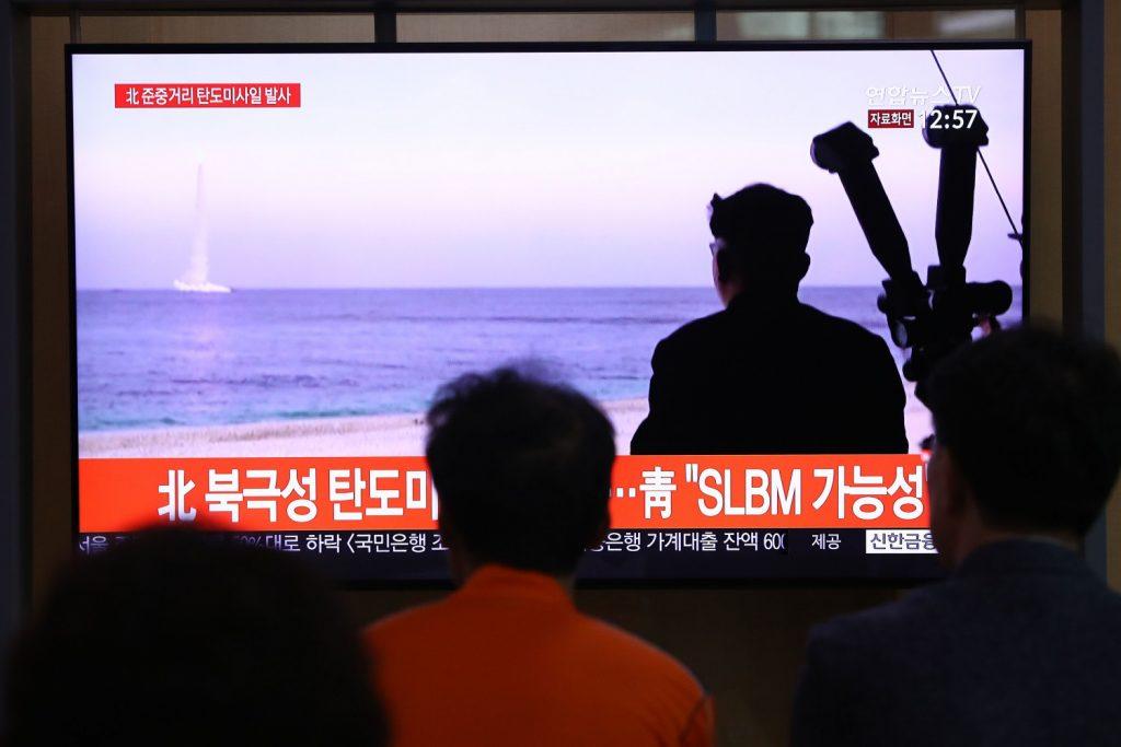 Missile lanciato da un sottomarino della Corea del Nord (LaPresse)