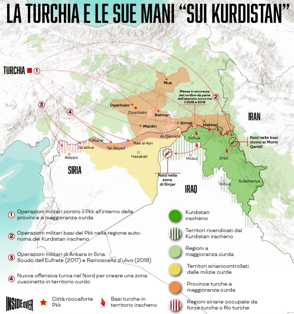 Le mani della Turchia sul Kurdistan (Alberto Bellotto)