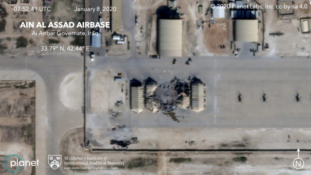 La base americana colpita dai missili iraniani (LaPresse)