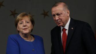 Angela Merkel e Recep Erdogan (La Presse)