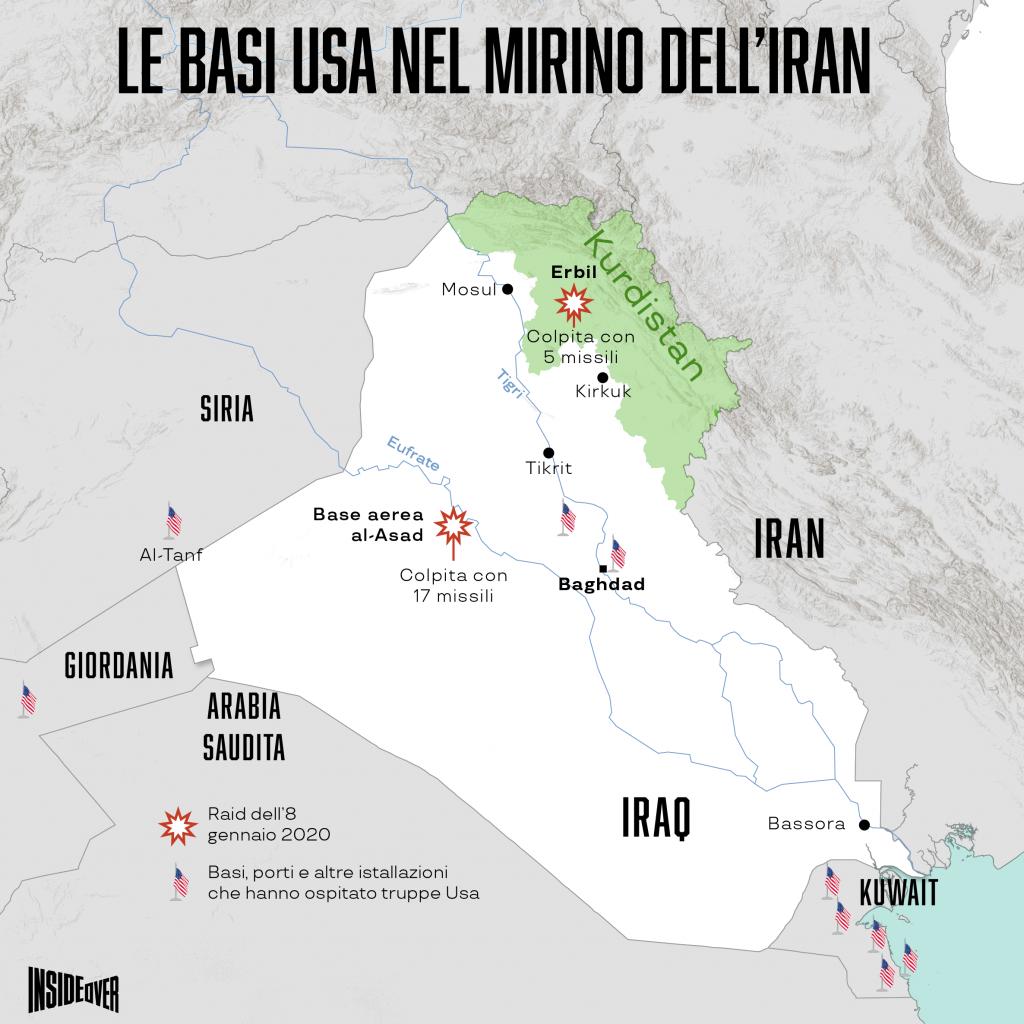 I raid dell'Iran sulle basi Usa Iraq (Alberto Bellotto)