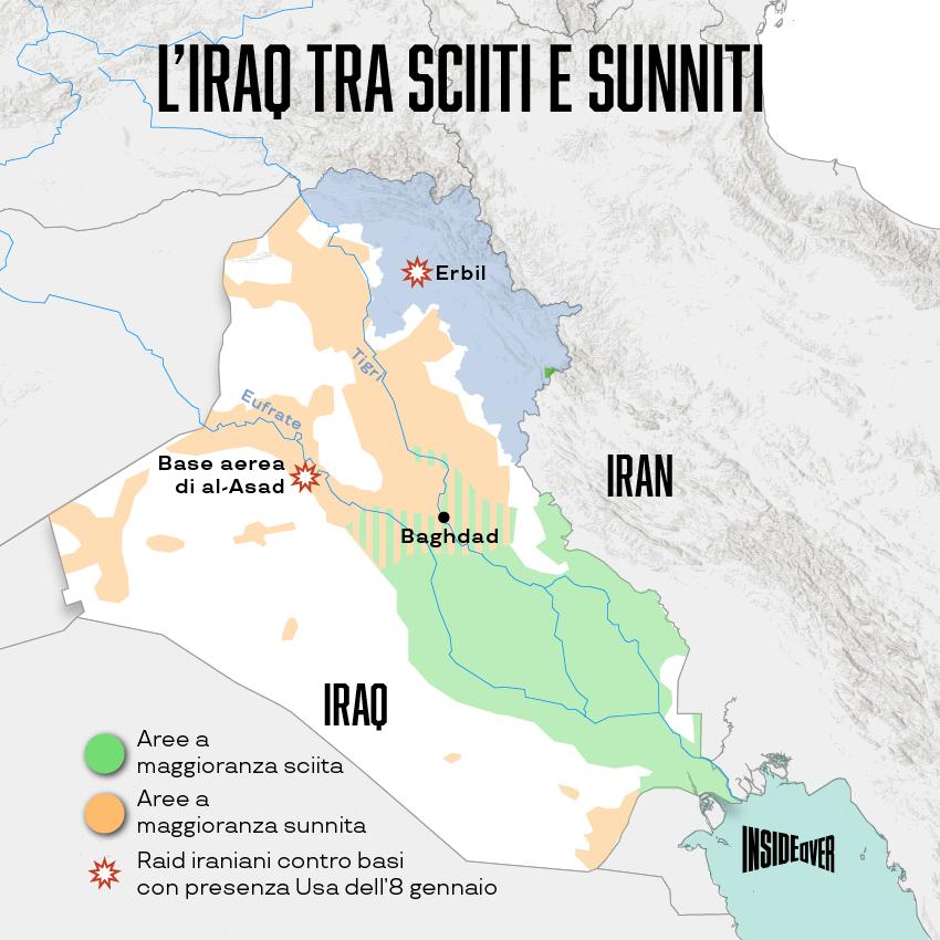 Come sono divisi i sunniti e gli sciiti in Iraq (Alberto Bellotto)