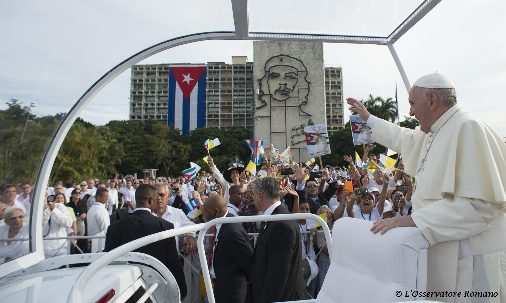 Papa Francesco a Cuba (LaPresse)