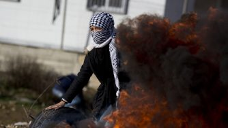 proteste in Palestina contro Trump