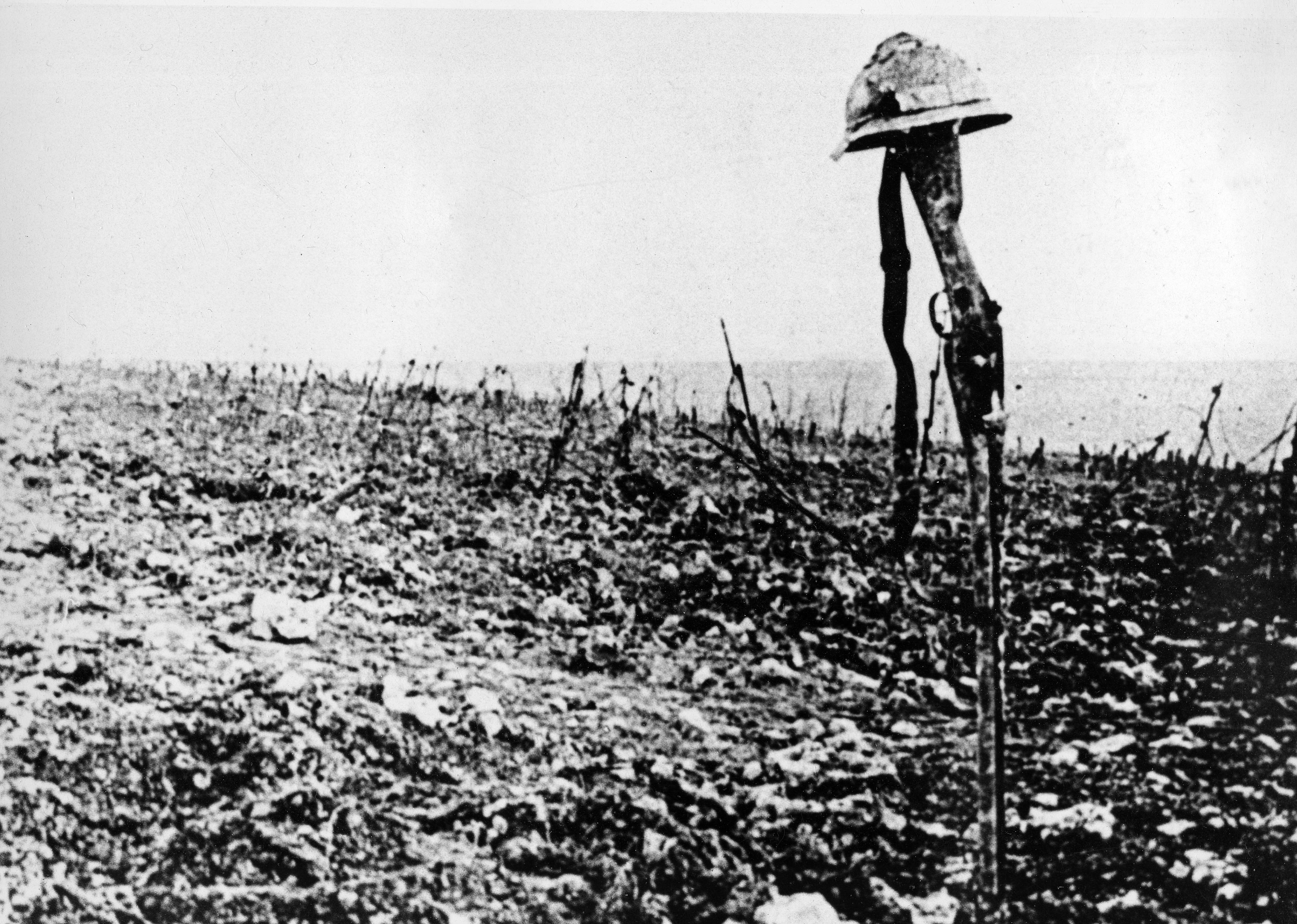 Prima guerra mondiale, il campo di battaglia di Verdun (LaPresse)