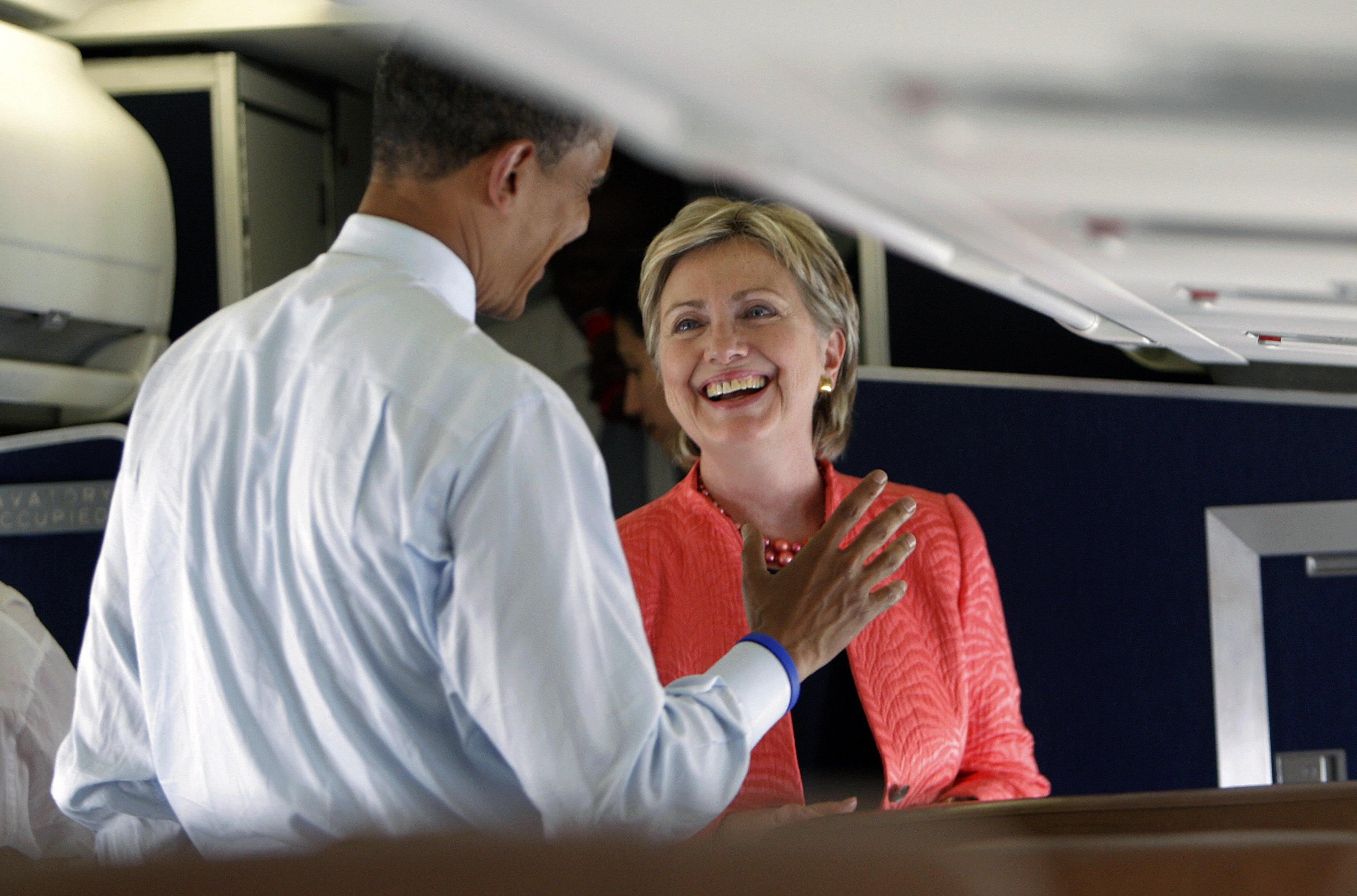Barack Obama e Hillary Clinton (LaPresse)