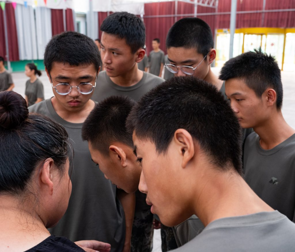 The boys inside these rehabilitation centres are monitored 24 hours a day by cameras around the camp. Weifang is one of the most famous and prestigious fields in all of China