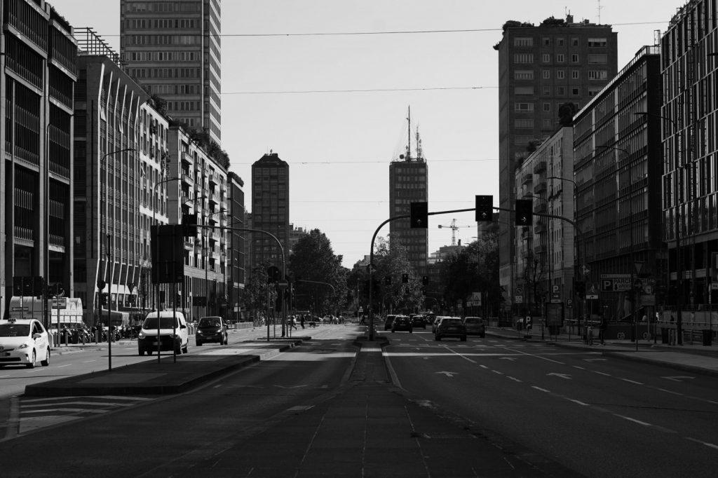 Una veduta generale di Milano, foto di Vittorio Zunino Celotto per Getty