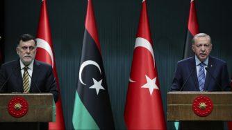 Libia, incontro Serraj Erdogan (La Presse)