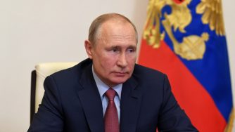 Vladimir Putin in videoconferenza (La Presse)