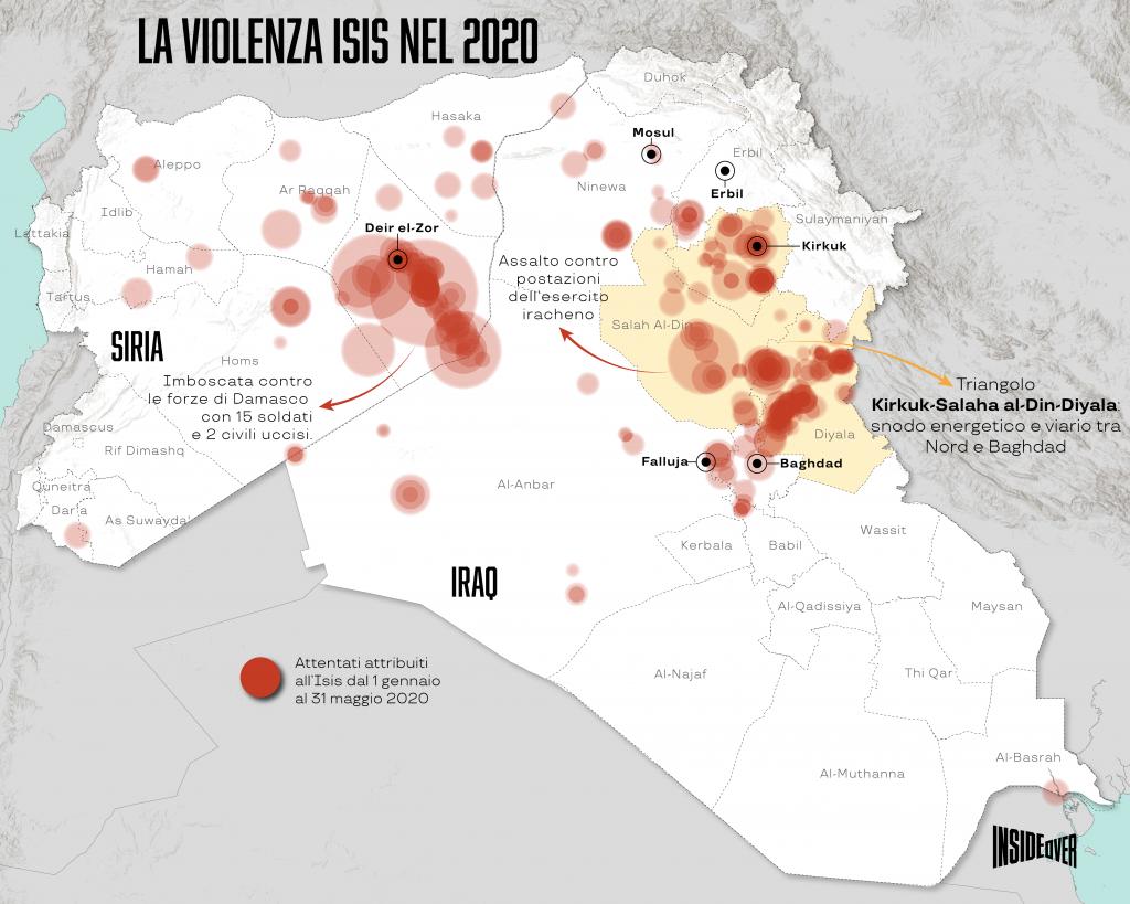 stato islamico mappa aggiornata siria