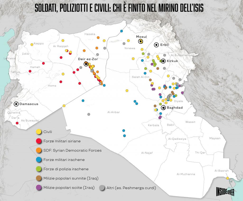 stato islamico mappa aggiornata iraq siria