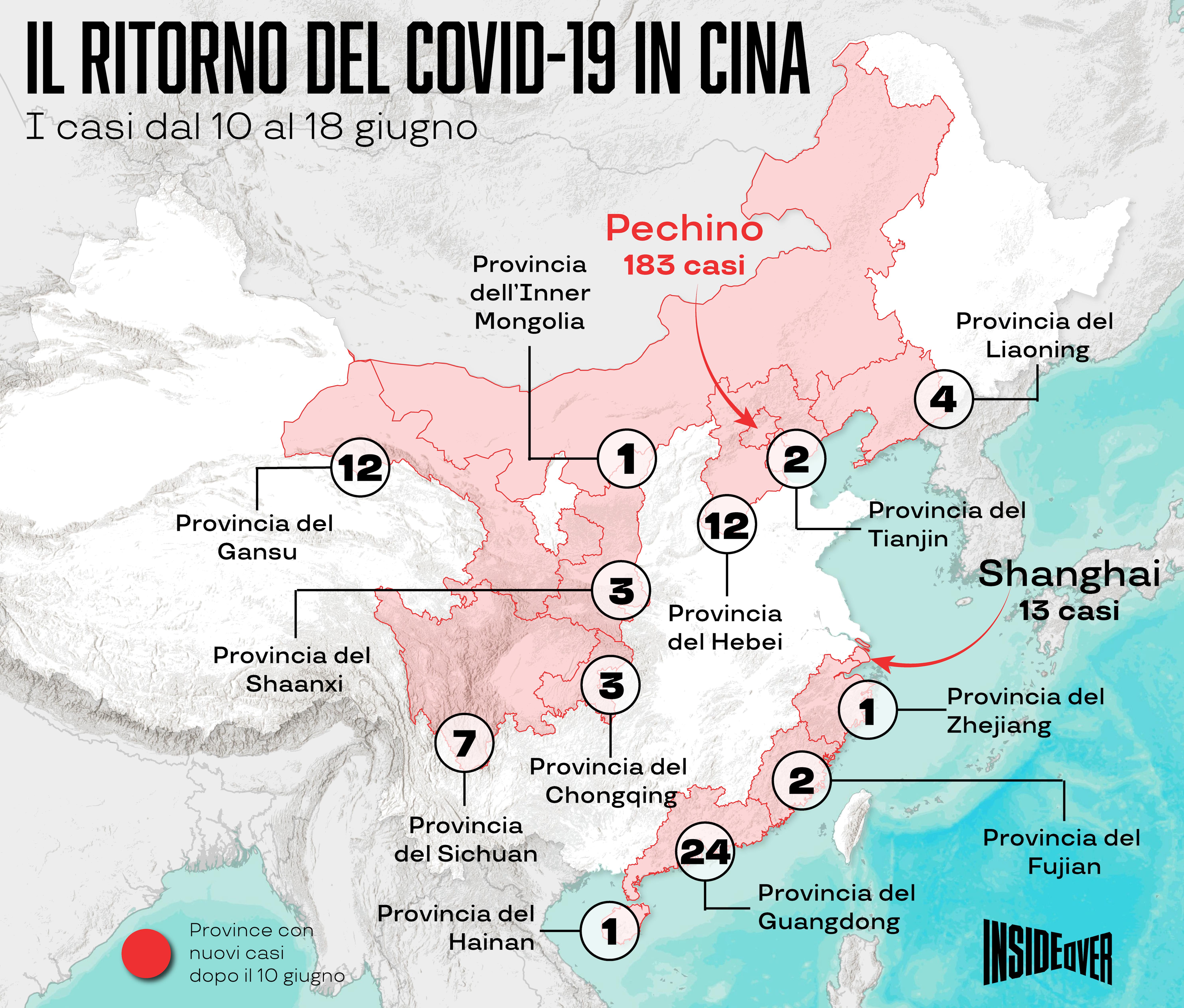 Cartina Cina Con Province.Cluster E Focolai Cosi E Tornato Il Virus In Cina E Ora Pechino Trema