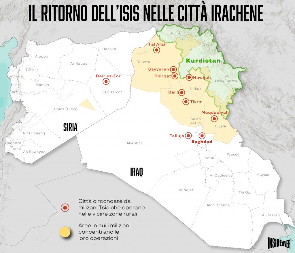 stato islamico mappa aggiornata siria iraq