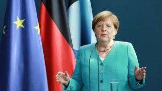 Merkel And Von Der Leyen Press Conference As Germany Holds EU Council Presidency