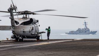 Elicottero Usa Mar Cinese Meridionale, marina americana (La Presse)