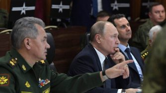 Putin, Shoigu e Assad a Damasco