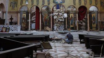 Libano, chiesa Beirut macerie (La Presse)