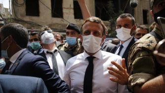 Libano, il presidente francese Macron a Beirut sul luogo delle deflagrazioni