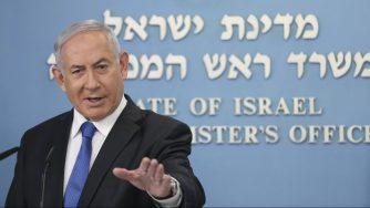 Gerusalemme, il primo ministro israeliano Benjamin Netanyahu in conferenza stampa