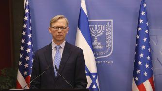 Netanyahu in conferenza con Brian Hook a Gerusalemme
