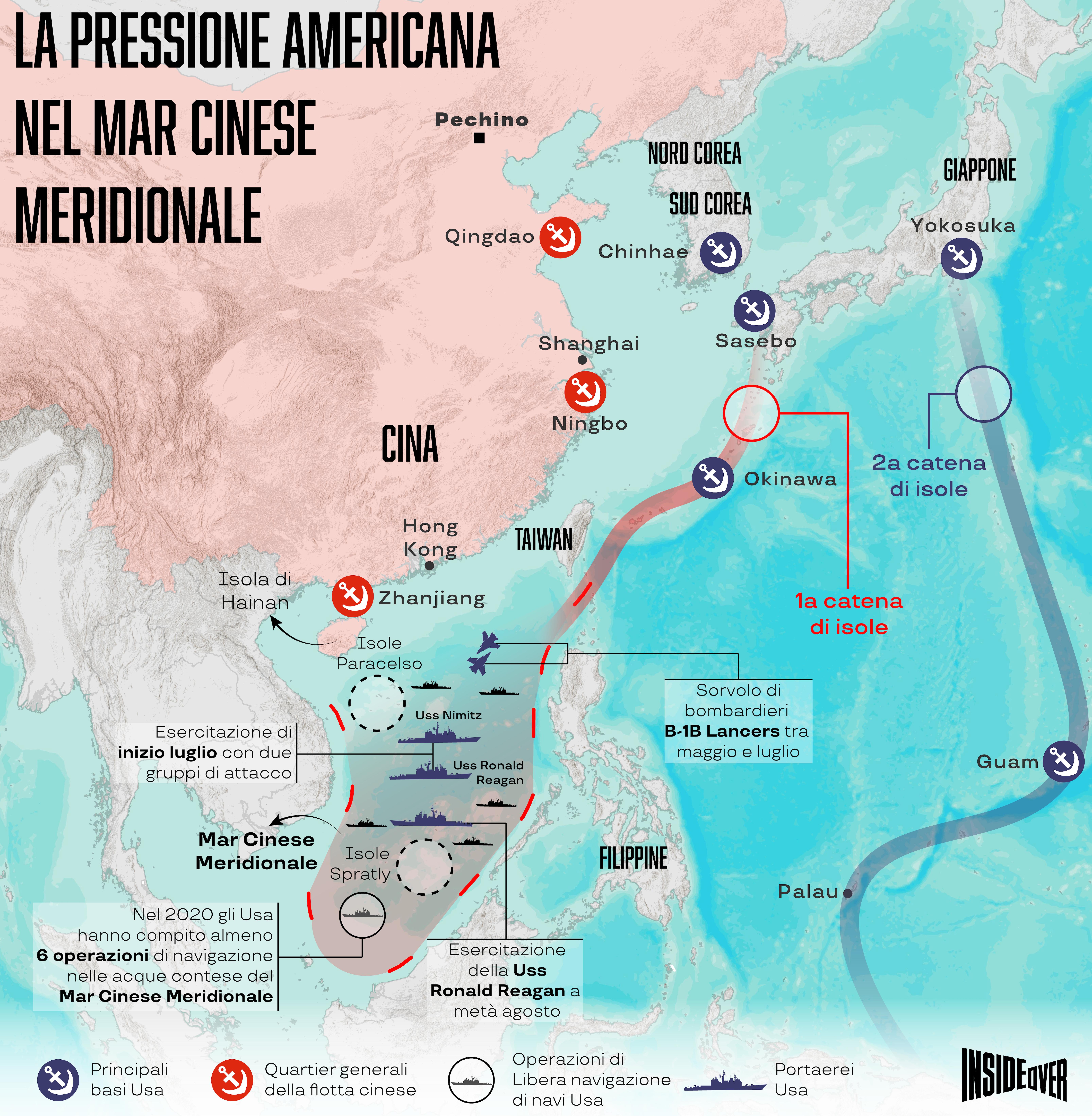 esercitazioni usa mar cinese meridionale