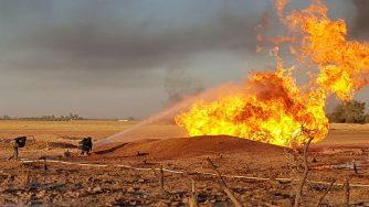 Siria, incendio (La Presse)