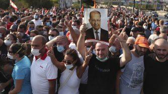 Libano proteste Michel Aoun (La Presse)
