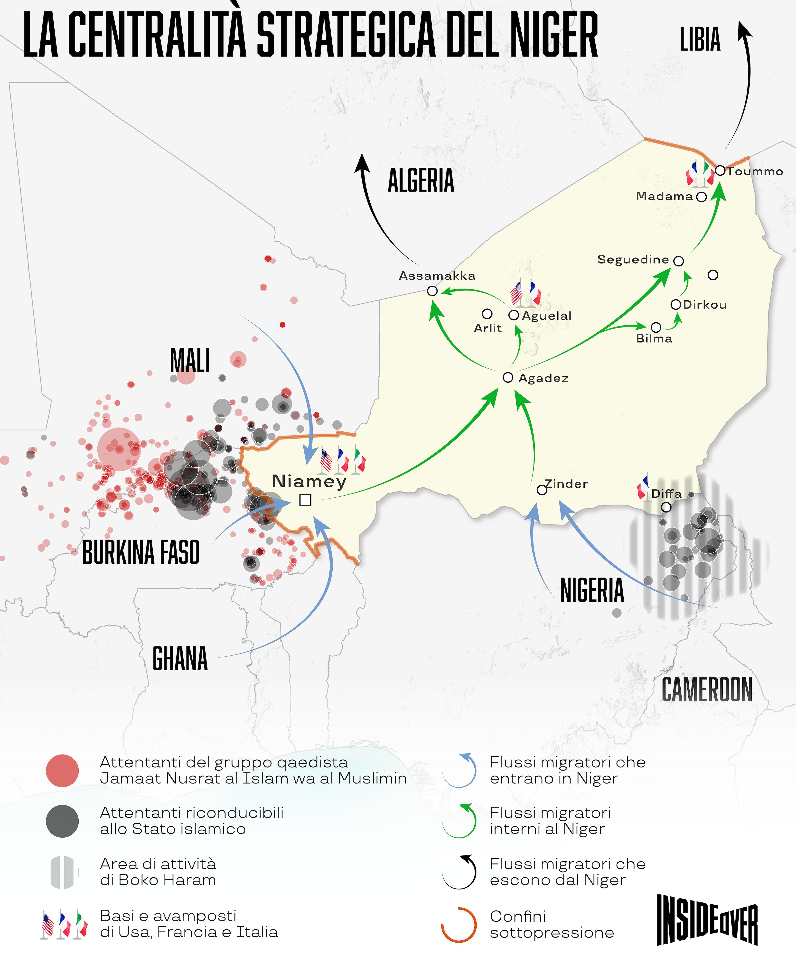 migranti niger libia mappa
