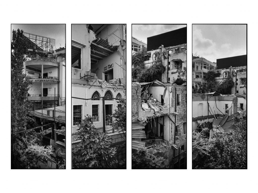 Distruzioni davanti al porto di Beirut dopo l'esplosione (Ivo Saglietti)