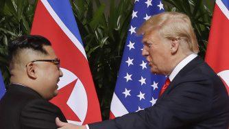 Donald Trump, e Kim Jong Un (LaPresse)