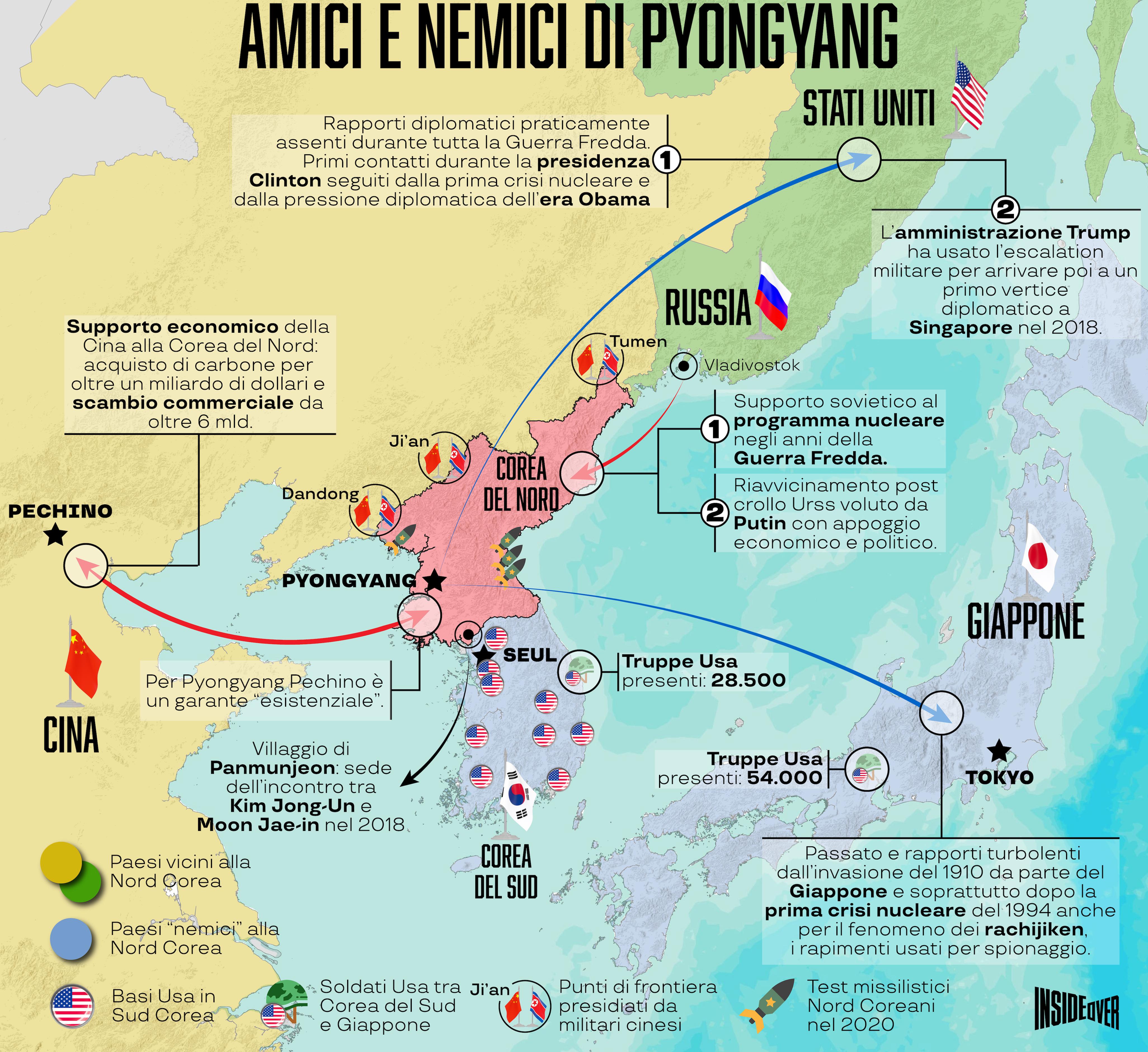 Cartina Mondo Corea.I Falsi Amici E I Veri Nemici Della Corea Del Nord