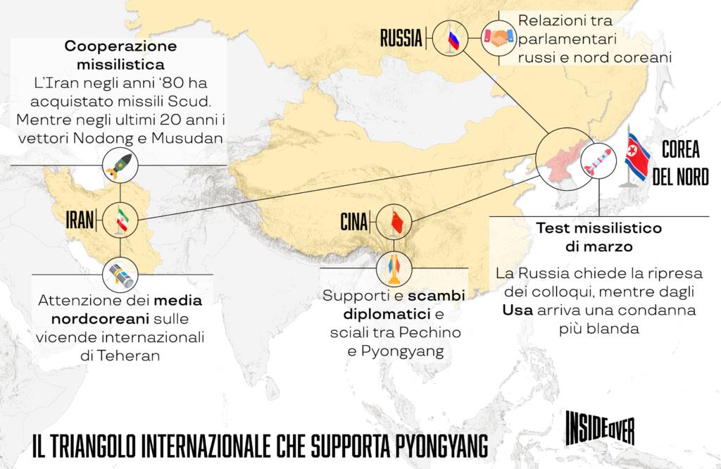 cartina corea del nord cina russia iran