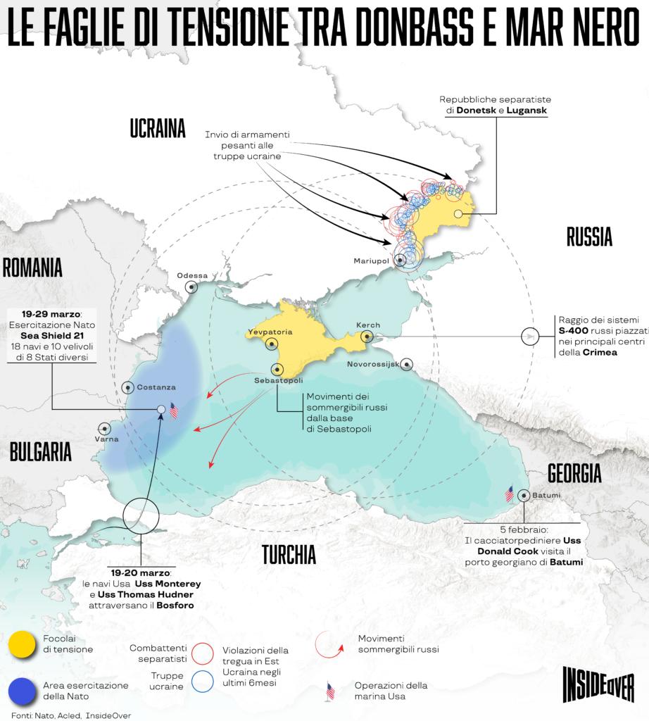 Le faglie di tensione tra Russia e Ucraina