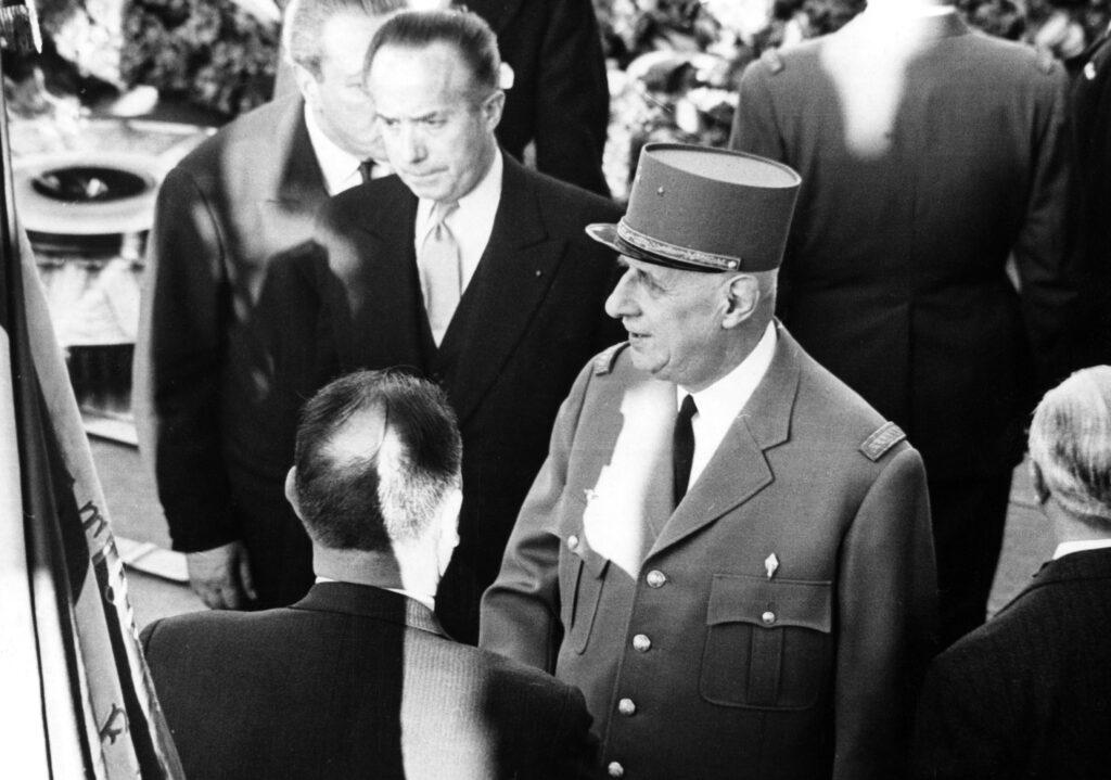 Charles De Gaulle, in uno scatto degli anni Sessanta (LaPresse)