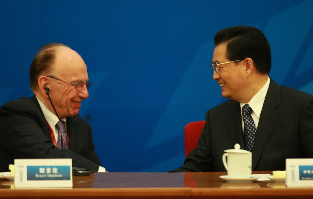 Hu Jintao e Rupert Murdoch